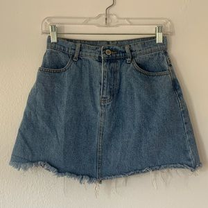 HIGH WAIST DENIM MINI SKIRT